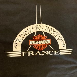 VTG Harley Davidson Oversized France Shirt